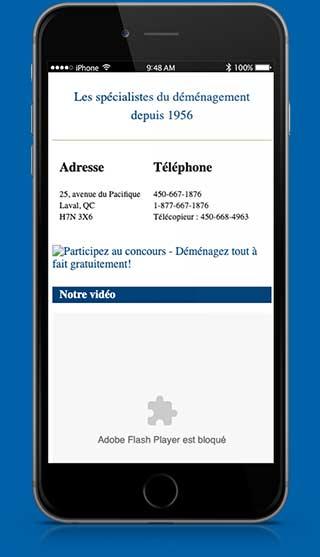 Brault Déménagement - ancien site mobile