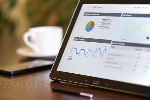 statistiques de visionnement d'un site web