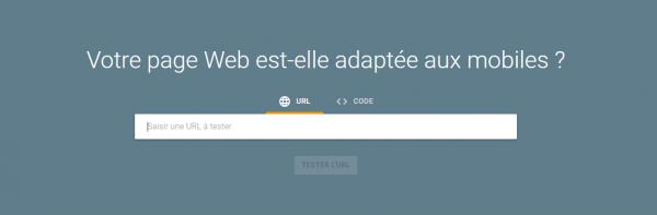 Test optimisation mobile Google